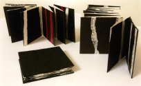 The Space Between-Relief Print, Collage and Hand Text Set of 3 books-Robyn Waghorn
