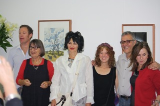 Some of the artists selected and Akky van Ogtrop.