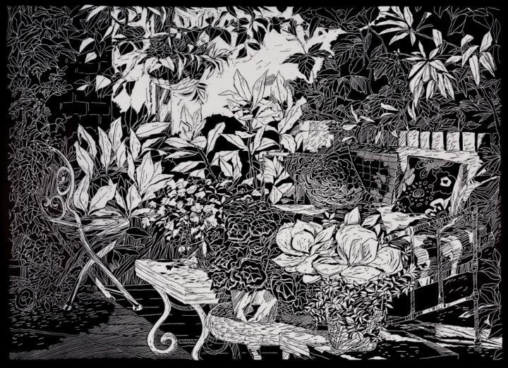 christinedruitt-preston_a special spot-gulgamree, mudgee2018_linocutprint_50x69cm