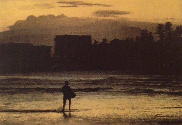 'Golden Hour'- monotype & solarplate