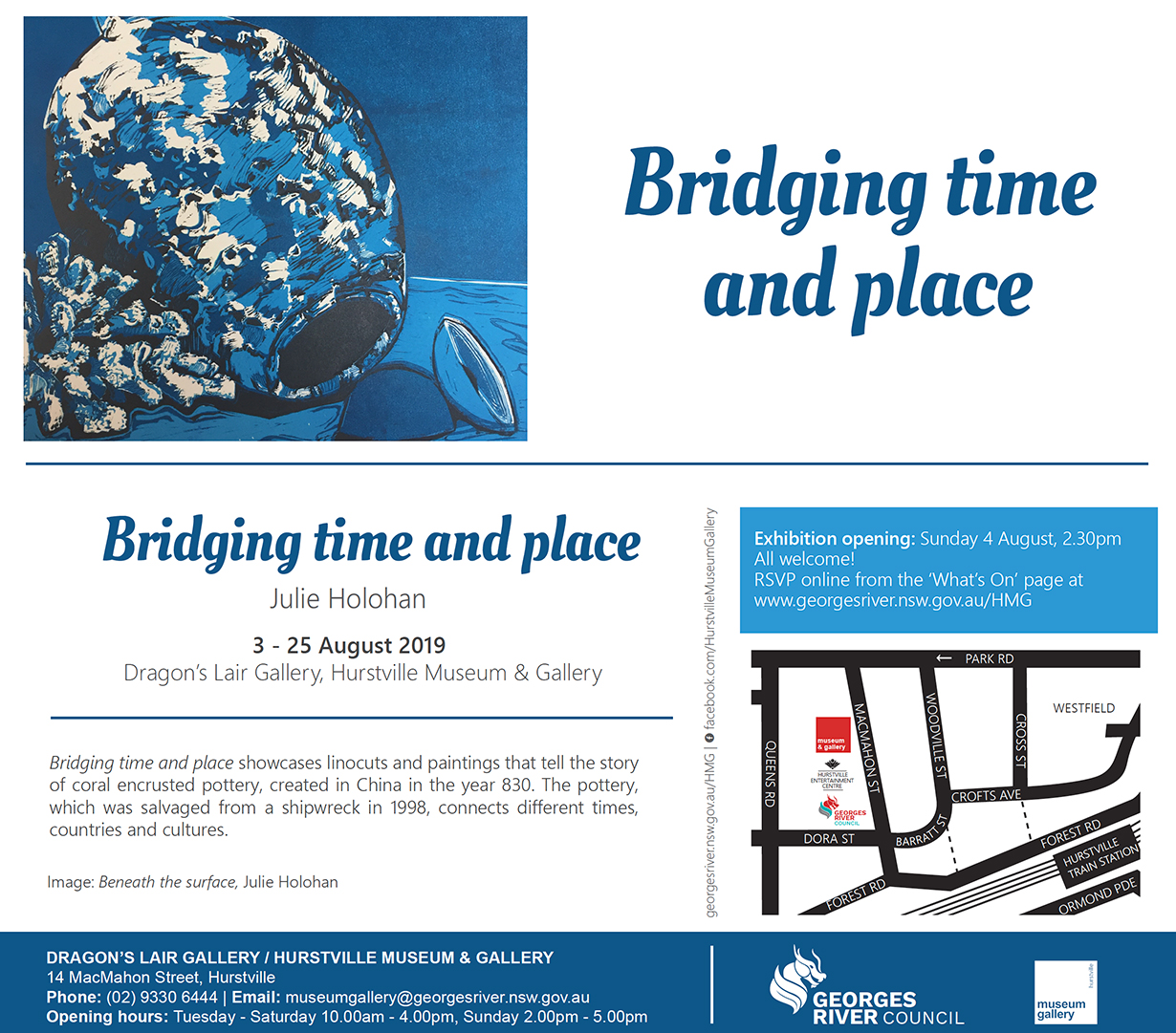 Bridging time and place exhibition by Julie Holohan